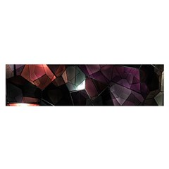 Crystals Background Design Luxury Satin Scarf (oblong)