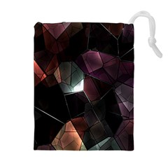 Crystals Background Design Luxury Drawstring Pouches (extra Large)