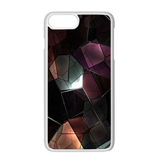 Crystals Background Design Luxury Apple Iphone 8 Plus Seamless Case (white)