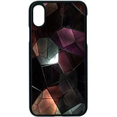 Crystals Background Design Luxury Apple Iphone X Seamless Case (black)