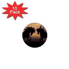 Horses Sunset Photoshop Graphics 1  Mini Magnet (10 Pack)