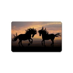 Horses Sunset Photoshop Graphics Magnet (name Card)