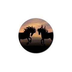 Horses Sunset Photoshop Graphics Golf Ball Marker (4 Pack)
