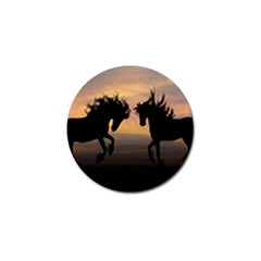 Horses Sunset Photoshop Graphics Golf Ball Marker (10 Pack)