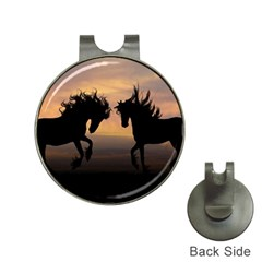 Horses Sunset Photoshop Graphics Hat Clips With Golf Markers