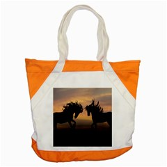 Horses Sunset Photoshop Graphics Accent Tote Bag