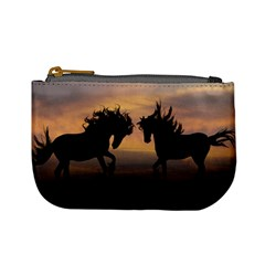 Horses Sunset Photoshop Graphics Mini Coin Purses