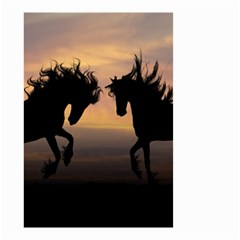 Horses Sunset Photoshop Graphics Small Garden Flag (two Sides)