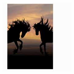 Horses Sunset Photoshop Graphics Large Garden Flag (two Sides)