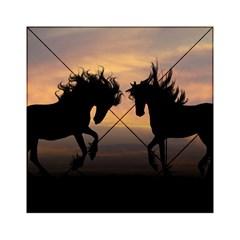 Horses Sunset Photoshop Graphics Acrylic Tangram Puzzle (6  X 6 )