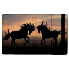 Horses Sunset Photoshop Graphics Apple Ipad 2 Flip Case