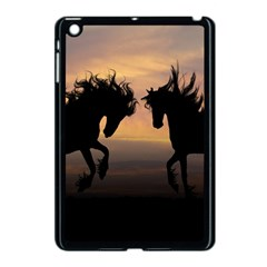Horses Sunset Photoshop Graphics Apple Ipad Mini Case (black)