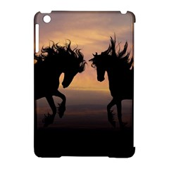 Horses Sunset Photoshop Graphics Apple Ipad Mini Hardshell Case (compatible With Smart Cover)