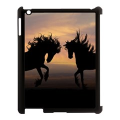 Horses Sunset Photoshop Graphics Apple Ipad 3/4 Case (black)