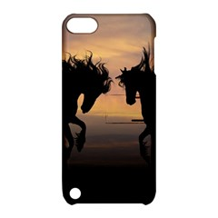 Horses Sunset Photoshop Graphics Apple Ipod Touch 5 Hardshell Case With Stand