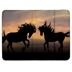 Horses Sunset Photoshop Graphics Samsung Galaxy Tab 7  P1000 Flip Case