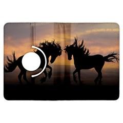Horses Sunset Photoshop Graphics Kindle Fire Hdx Flip 360 Case