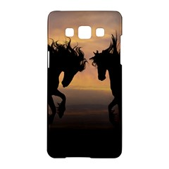 Horses Sunset Photoshop Graphics Samsung Galaxy A5 Hardshell Case