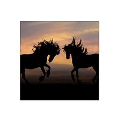 Horses Sunset Photoshop Graphics Satin Bandana Scarf