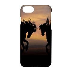 Horses Sunset Photoshop Graphics Apple Iphone 8 Hardshell Case