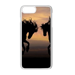 Horses Sunset Photoshop Graphics Apple Iphone 8 Plus Seamless Case (white)