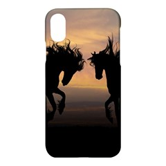 Horses Sunset Photoshop Graphics Apple Iphone X Hardshell Case