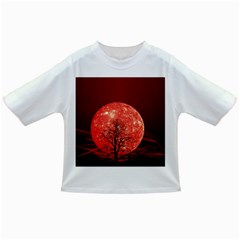The Background Red Moon Wallpaper Infant/toddler T Shirts