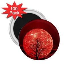 The Background Red Moon Wallpaper 2 25  Magnets (100 Pack)
