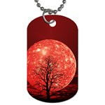 The Background Red Moon Wallpaper Dog Tag (Two Sides) Back