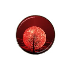 The Background Red Moon Wallpaper Hat Clip Ball Marker (4 Pack)