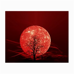 The Background Red Moon Wallpaper Small Glasses Cloth