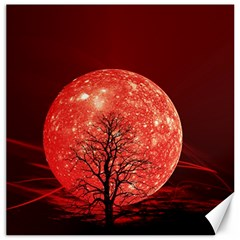 The Background Red Moon Wallpaper Canvas 20  X 20