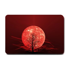 The Background Red Moon Wallpaper Small Doormat