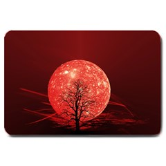 The Background Red Moon Wallpaper Large Doormat