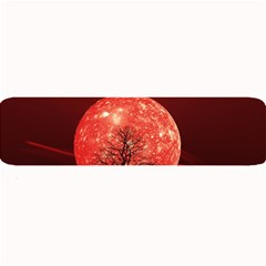 The Background Red Moon Wallpaper Large Bar Mats