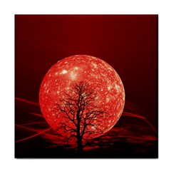 The Background Red Moon Wallpaper Face Towel