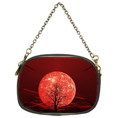 The Background Red Moon Wallpaper Chain Purses (one Side)