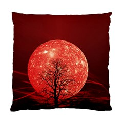 The Background Red Moon Wallpaper Standard Cushion Case (two Sides)