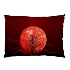 The Background Red Moon Wallpaper Pillow Case