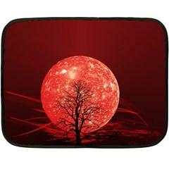 The Background Red Moon Wallpaper Double Sided Fleece Blanket (mini)