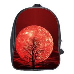 The Background Red Moon Wallpaper School Bag (large)