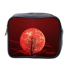 The Background Red Moon Wallpaper Mini Toiletries Bag 2 Side