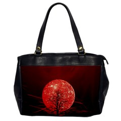 The Background Red Moon Wallpaper Office Handbags