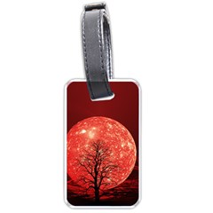 The Background Red Moon Wallpaper Luggage Tags (one Side)