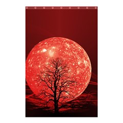 The Background Red Moon Wallpaper Shower Curtain 48  X 72  (small)