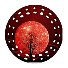 The Background Red Moon Wallpaper Ornament (round Filigree)
