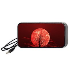 The Background Red Moon Wallpaper Portable Speaker