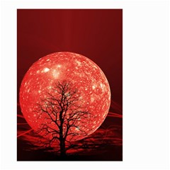The Background Red Moon Wallpaper Small Garden Flag (two Sides)