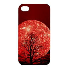 The Background Red Moon Wallpaper Apple Iphone 4/4s Premium Hardshell Case
