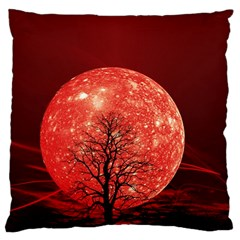 The Background Red Moon Wallpaper Large Cushion Case (two Sides)